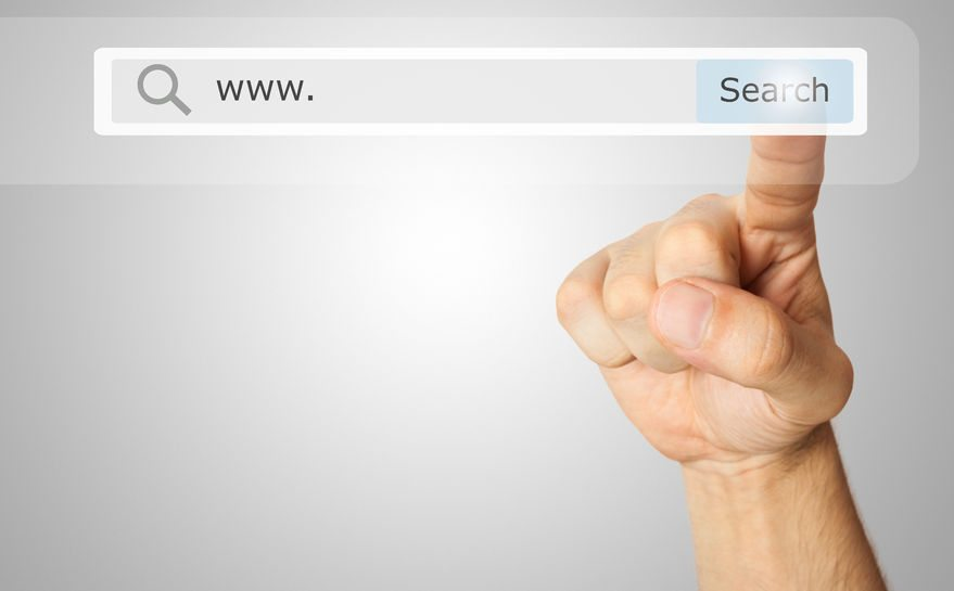 Del Mar SEO-San Diego SEO- Finger touching Google Search Bar